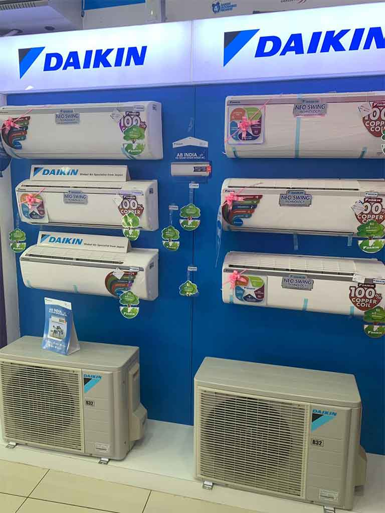 Air Conditioners in Ultra Cool Showroom